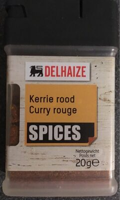 Curry rouge - Product - fr