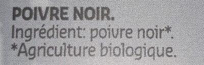 Poivre noir grains - Ingrediënten - fr