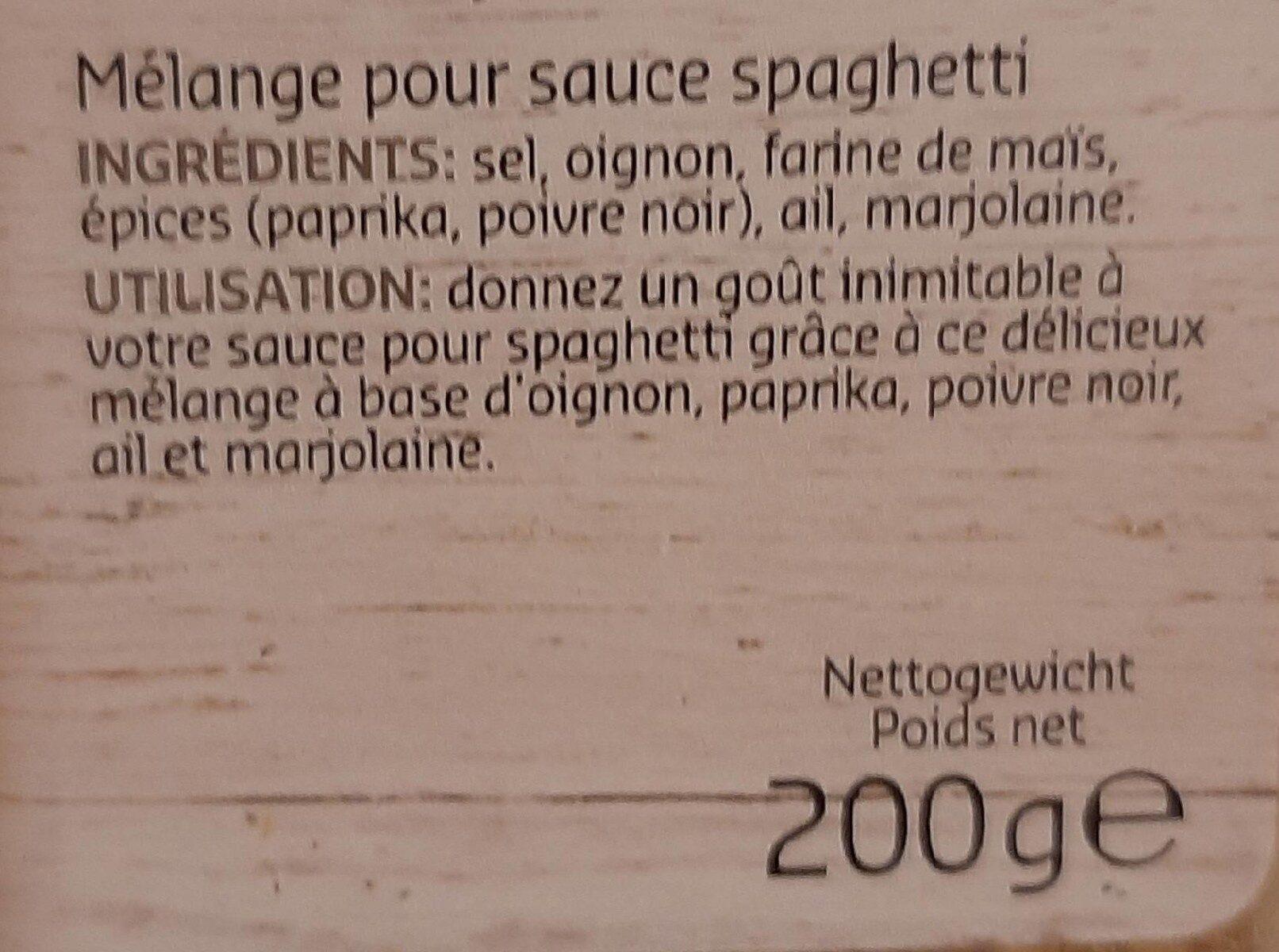 MIXES épices pour sauce spaghetti - Voedingswaarden