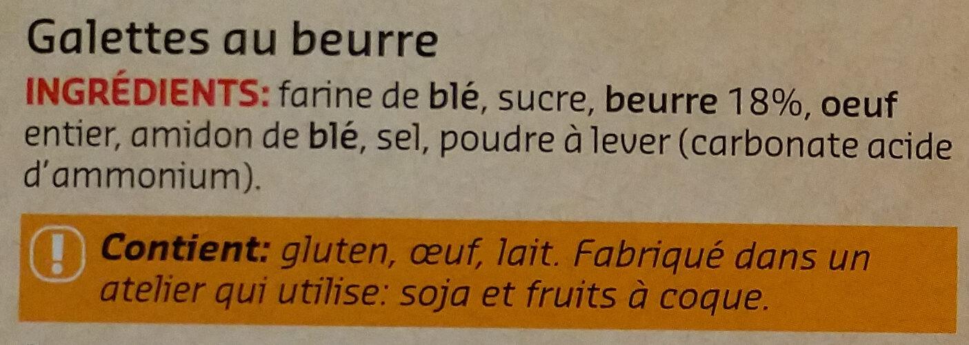 Galettes au beurre - Ingrédients - fr