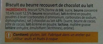 Petit-Beurre Chocolat au Lait - Ingrediënten - fr