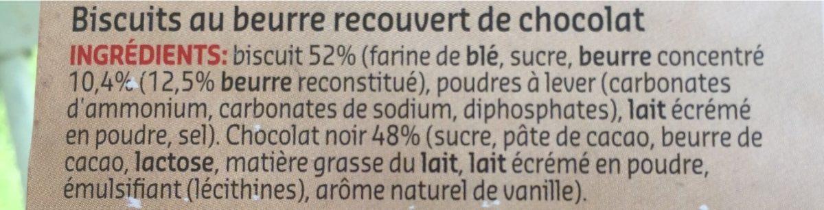 Petit beurre chocolat fondant - Ingrediënten - fr