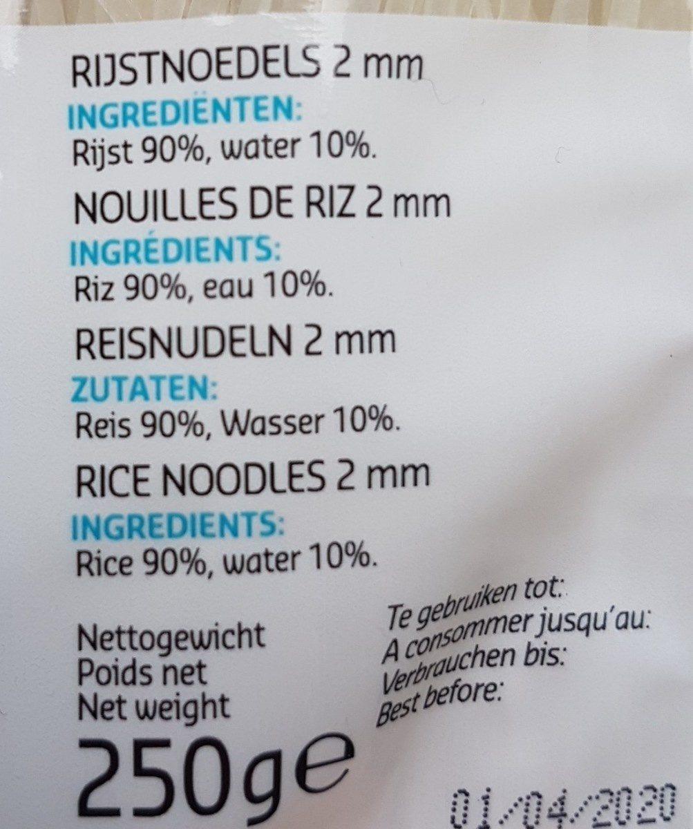 Nouilles De Riz - Ingrediënten