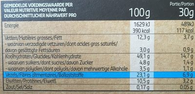 Crunchy muesli fruits des bois à la stevia - Voedingswaarden - fr