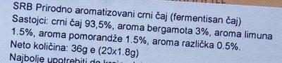 Russian earl grey Sri Lanka - Ingredients