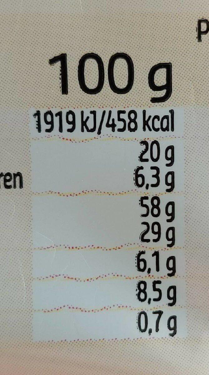 Cookies SuperFruit (citron, graines de pavots et de chia) - Valori nutrizionali - fr