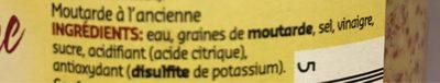 Moutarde à l'ancienne - Ingrediënten