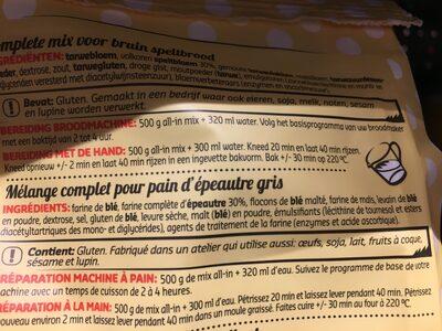 All in - Ingrediënten - fr