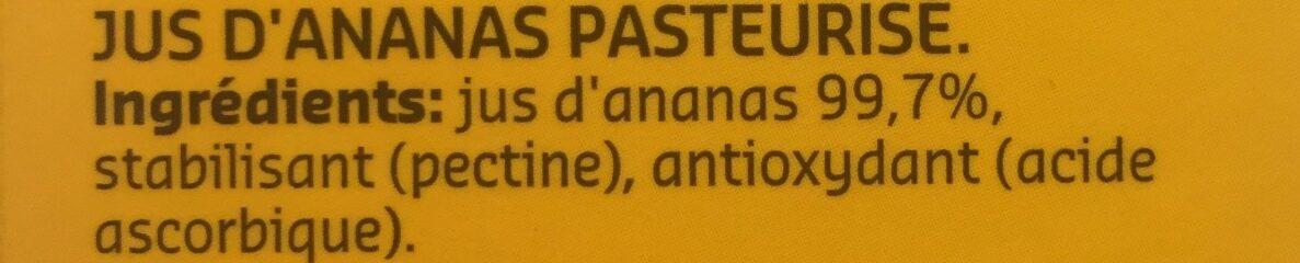 Jus d'ananas - Ingredients - fr