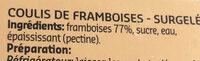 Framboise coulis - Ingrediënten - fr