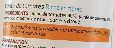 Chair de tomates nature - Ingrédients - fr