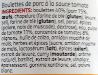 Boulettes à la sauce tomate - Ingrédients - fr