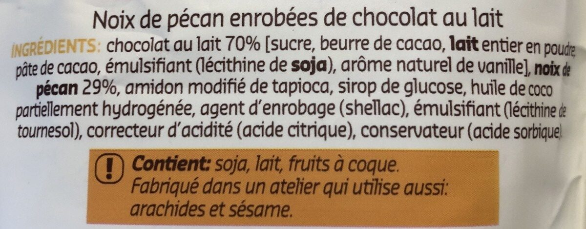 Sweet bites pecan - Ingrédients