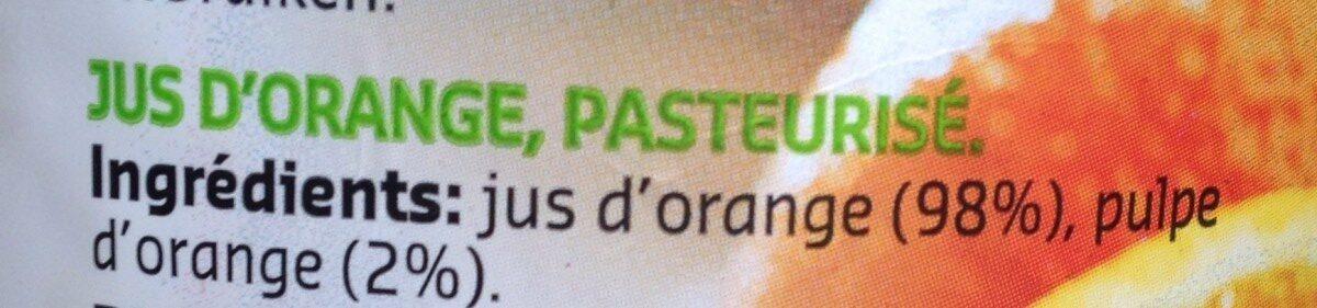 Jus d'orange 100% pur jus - Ingrediënten - fr