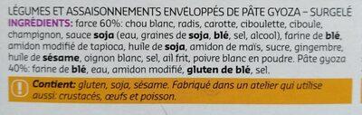 Gyozas vegetables - Ingrediënten