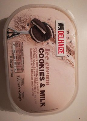 Ice cream cookies & milk - Produit