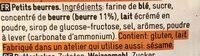 Petits beurres - Ingrediënten