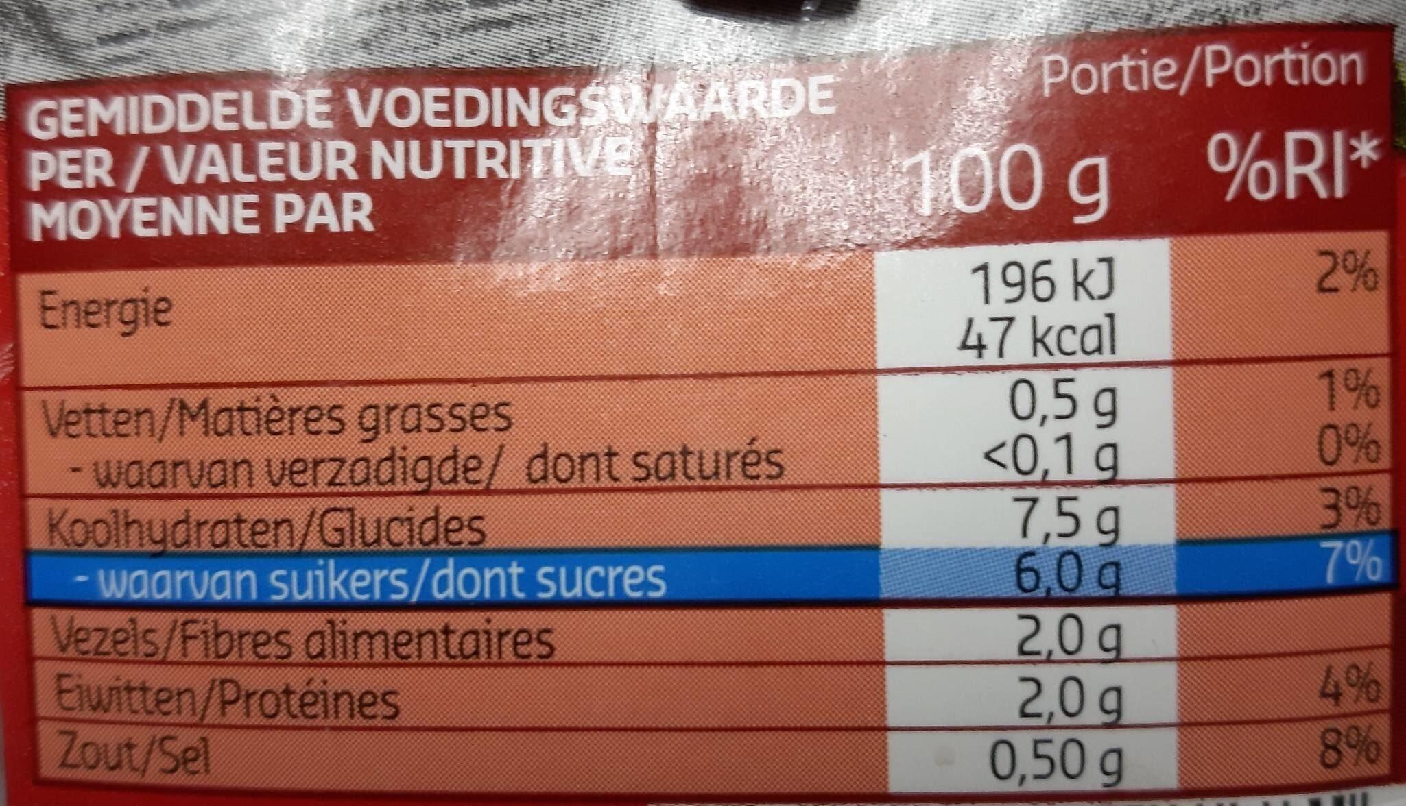 Passata - Informations nutritionnelles - fr