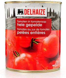 Tomates pelées entières au jus de tomates - Product - nl