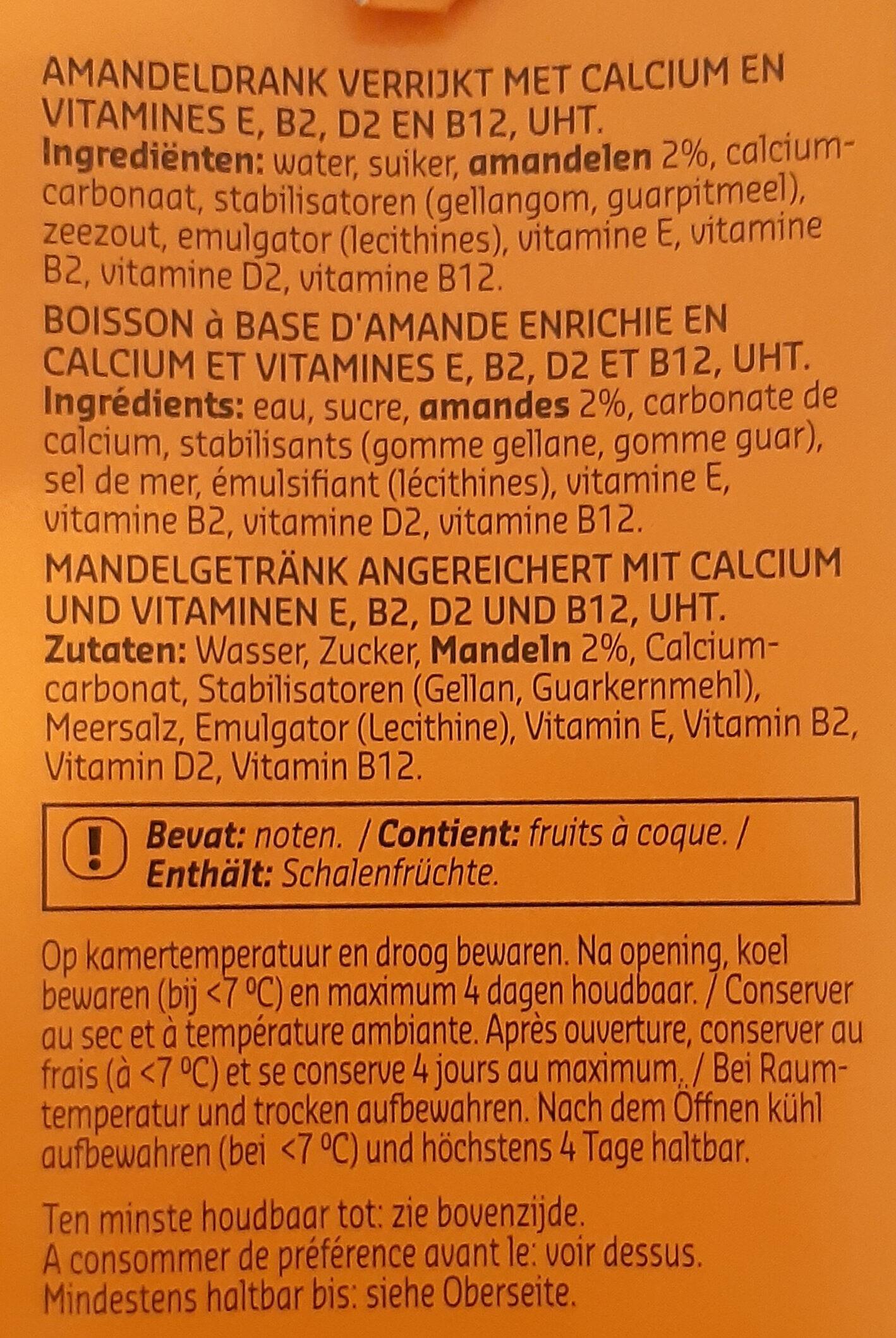 Lait amande - Ingredienti - fr