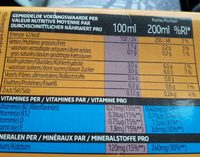 Lait d'amande - Nutrition facts