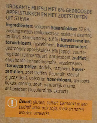 Crunchy muesli - Ingrediënten - nl