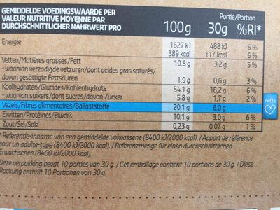 Crunchy muesli - Voedingswaarden