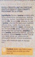 Crunchy muesli - Ingrediënten