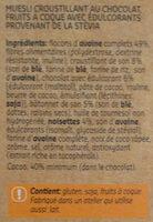Granola chocolat & noisettes - Ingrédients - fr