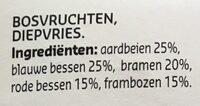 Fruit des bois - Ingrediënten - nl
