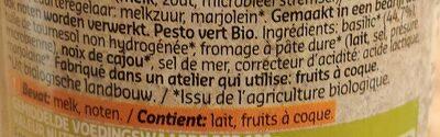 Delhaize Bio Pesto Vert - Ingrédients
