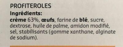 Profiteroles - Ingrediënten