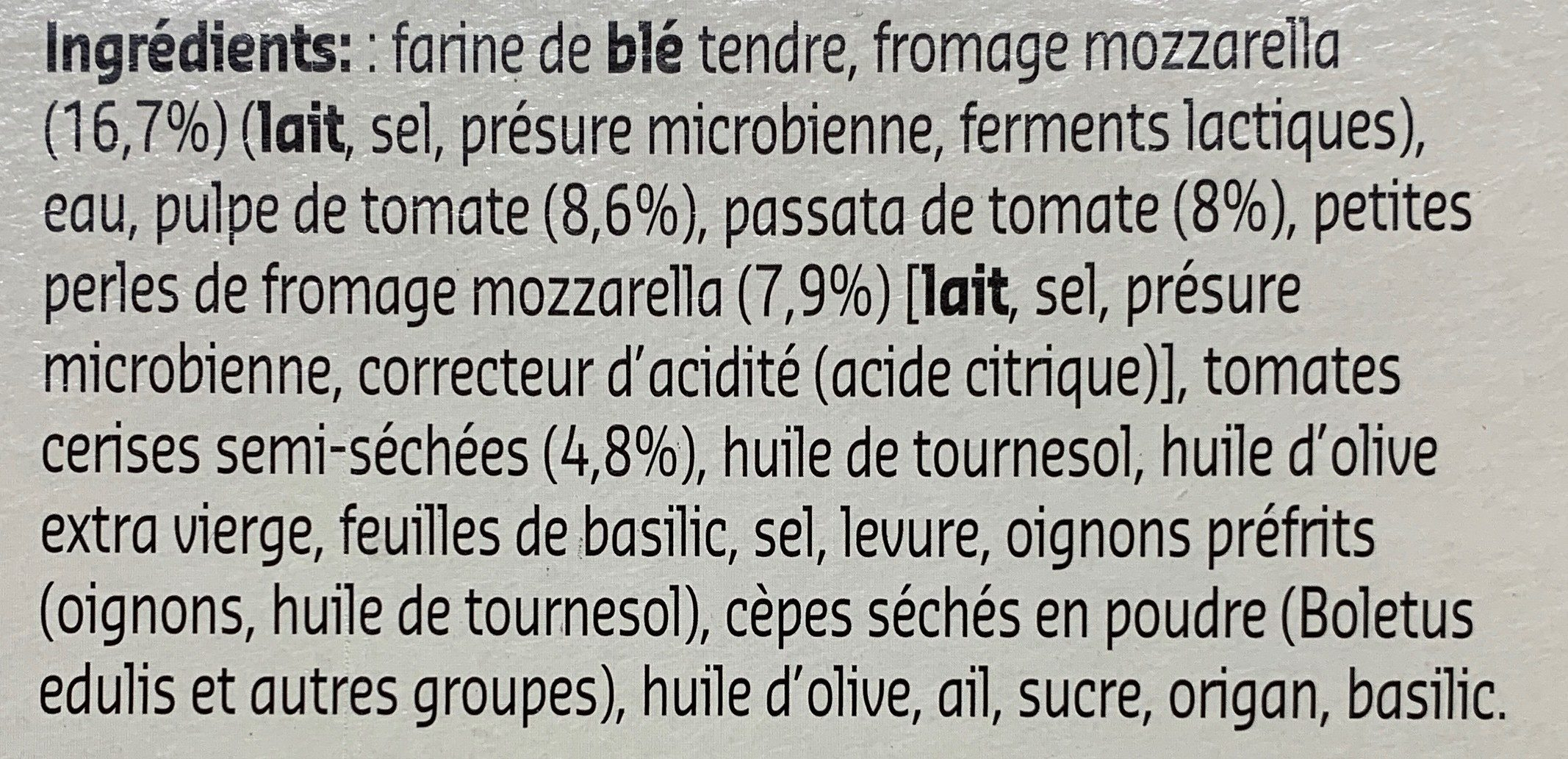Naples style Pizza margherita - Ingrediënten - fr