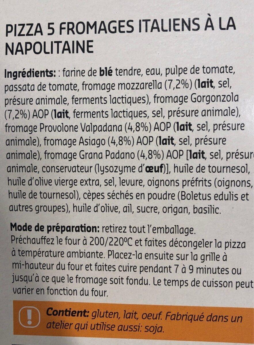 Naples style pizza 5 fromaggi - Ingrediënten - fr