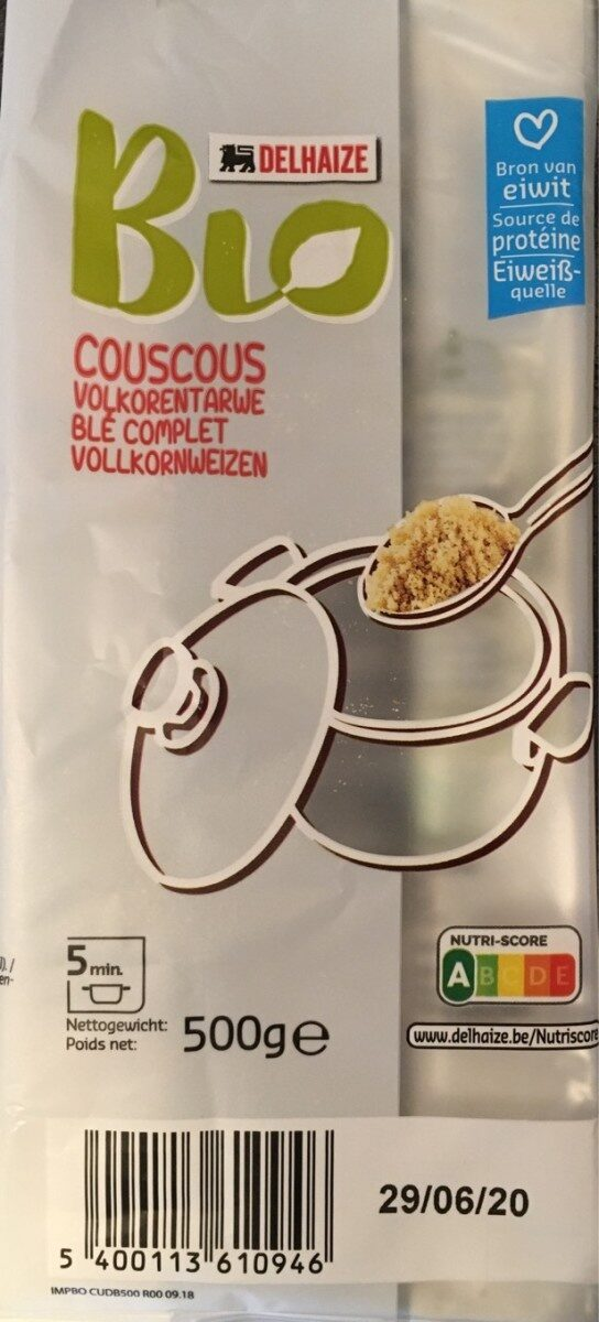 Couscous blé complet bio - Product - fr