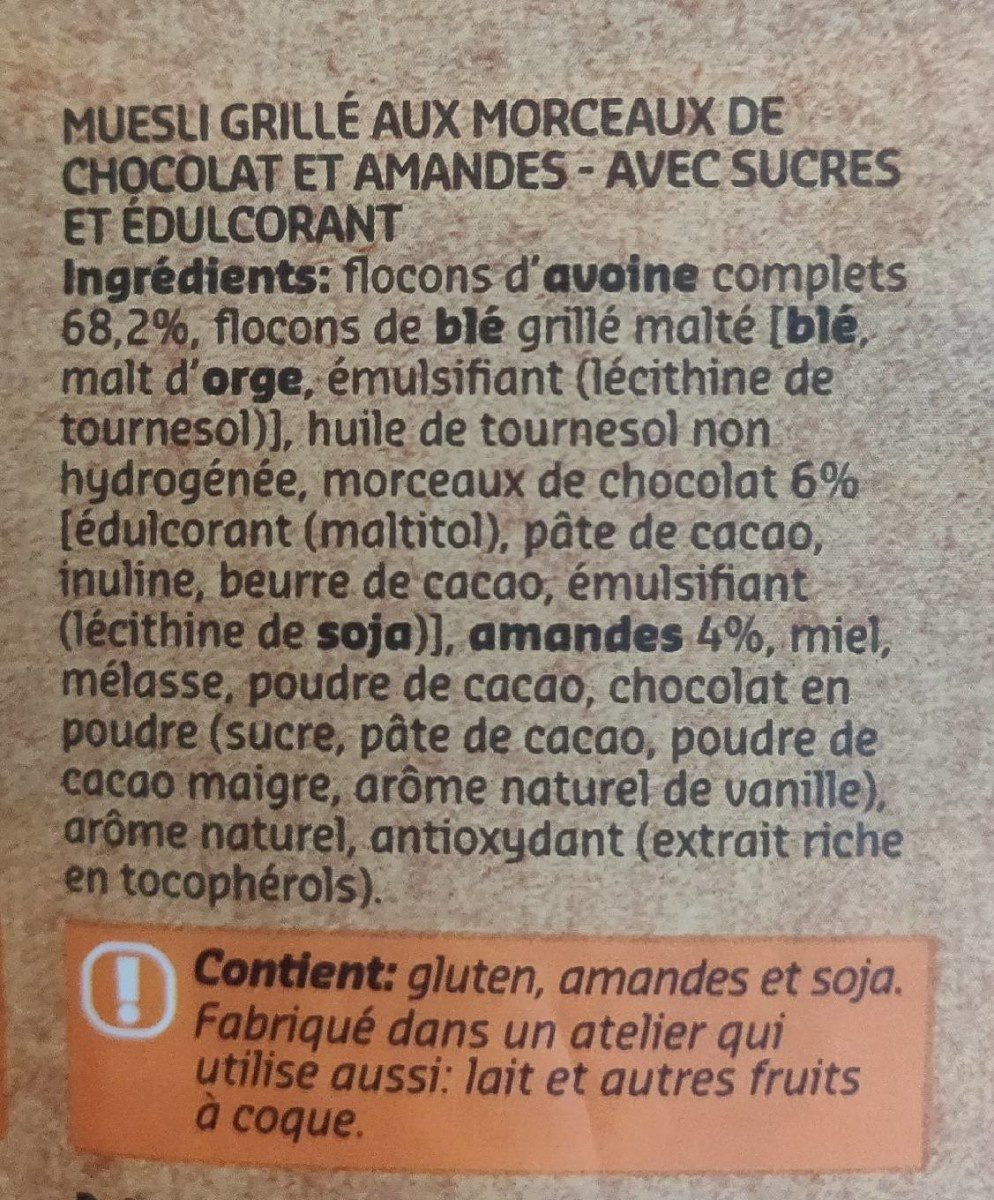 Original Muesli Chocolat & amandes - Ingredients