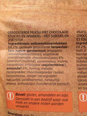 Original Muesli Chocolat & amandes - Ingrediënten