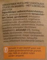 Original Muesli Chocolat & amandes - Ingrediënten - nl
