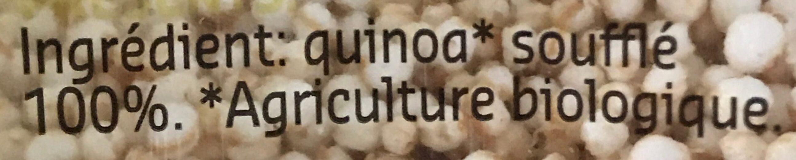 Quinoa soufflé - Ingredients - fr