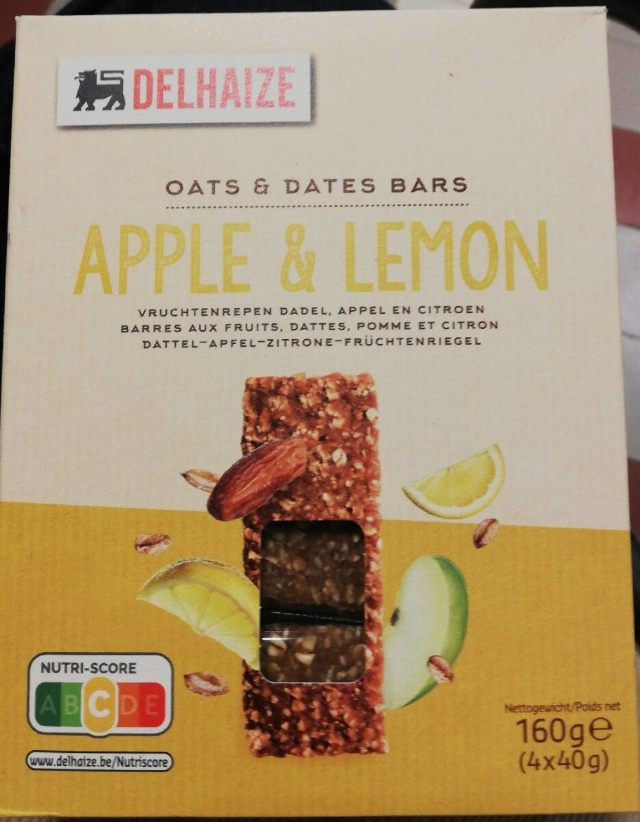 Oats and dates bars apple lemon - Product - fr