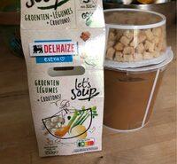 Delhaize Let'Soup Legumes et Croutons - Produit