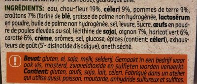 Delhaize Let'Soup Legumes et Croutons - Ingrédients