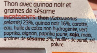 Tuna et grains quinoa - Ingrédients - fr