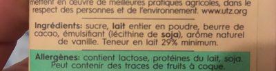 White Chocolate - Ingrediënten - fr
