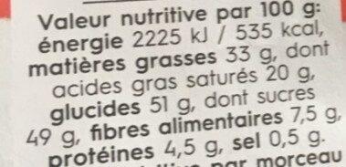 Dark Fleur de sel - Voedingswaarden - fr