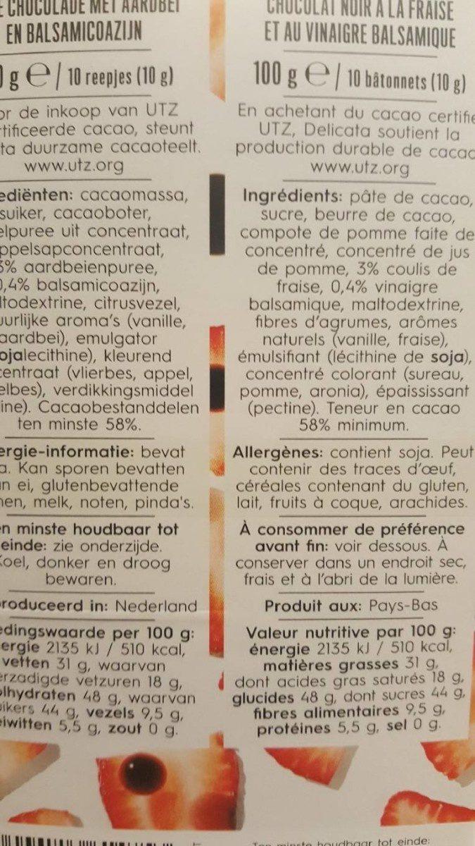 Dark strawberry balsamico - Ingredients - fr
