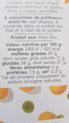 White melon matcha tea chocolate - Nutrition facts