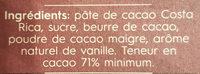 Costa Rica 71% Cocoa - Ingrediënten