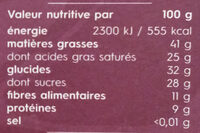 Costa Rica 71% Cocoa - Informations nutritionnelles - fr