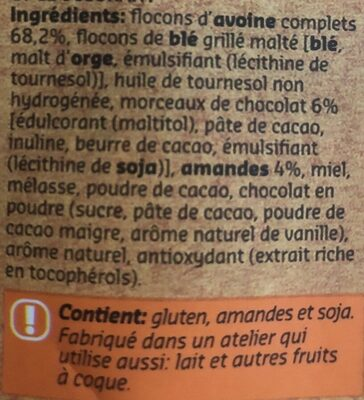 Original muesli toasted - Ingrediënten - fr